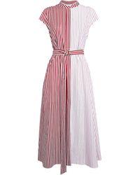Partow Amari Contrast Dress - Red