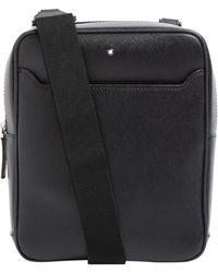 Montblanc Leather Sartorial Messenger Bag - Black
