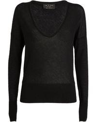 Rag & Bone Cashmere Scoop-neck Mandee Sweater - Black