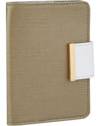Chaos Canvas And Leather Passport Holder - Green