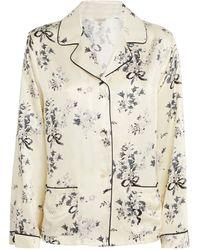 Morgan Lane Jane Pyjama Top - White