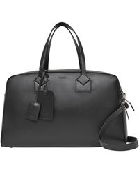 Burberry Leather Icon Stripe Holdall - Black