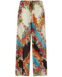 Gucci Wide Leg Pyjama Trousers, Red, It 40