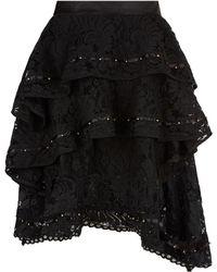 Keepsake - Star Crossed Lace Skirt - Lyst