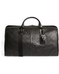 Bottega Veneta Leather Intrecciato Duffle Bag - Black