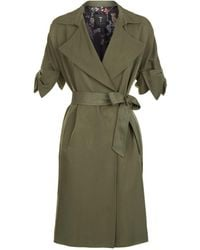 Ted Baker - Biibi Bow Detail Trench Coat - Lyst