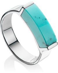 Monica Vinader - Linear Turquoise Stone Ring - Lyst