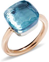 Pomellato Nudo Blue Topaz Maxi Ring