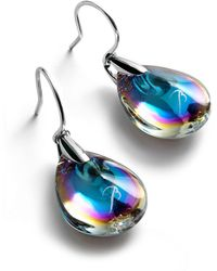 Baccarat - Silver And Crystal Psydlic Drop Earrings - Lyst