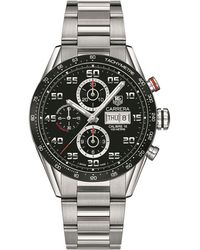 Tag Heuer Carrera Calibre 16 Day Date Automatic Chronograph Watch - Black