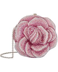 Judith Leiber Embellished Rose Clutch Bag - Pink