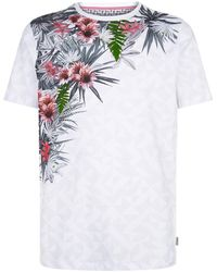 Ted Baker - Lassie Floral Print T-shirt - Lyst