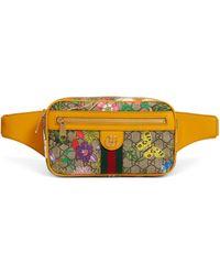 Gucci Ophidia GG Flora Belt Bag - Yellow