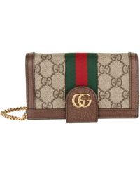 Gucci Brown Ophidia GG Chain Iphone 7/8 Case - Multicolor