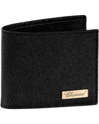Chopard Mini Leather Il Classico Bifold Wallet - Black