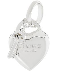 Links of London Heart Padlock Charm - Metallic
