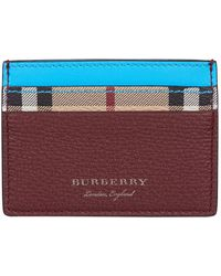 Burberry - Two-tone Haymarket Check Card Holder - Lyst