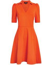 ME+EM Collared Mini Dress - Orange