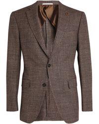 Pal Zileri Wool-blend Blazer - Brown