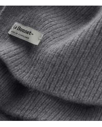 Le Bonnet Classic Lambswool Scarf - Grey