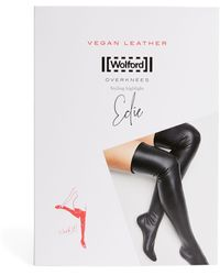 Wolford Vegan Leather Edie Knee Socks - Black