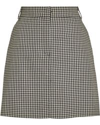MAX&Co. Check Mini Skirt - Black