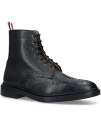 Thom Browne - Pebbled Leather Wingtip Boots - Lyst