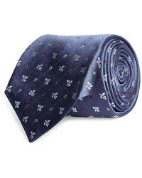 Kiton Geometric Silk Tie - Blue