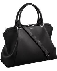 Cartier Small C De Leather Tote Bag - Black