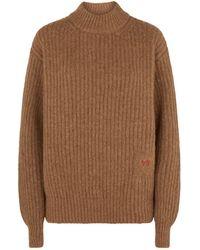 Victoria Beckham - Ribbed Sweater - Lyst