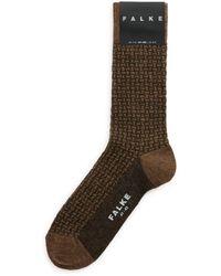 Falke Basket-weave Socks - Brown