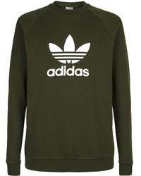 adidas Originals - Trefoil Crew Neck Sweatshirt - Lyst