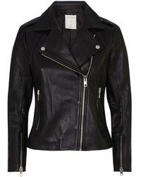 Sandro Leather Jacket - Black