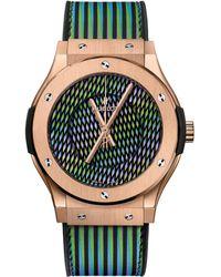 Hublot - King Gold Cruz Diez Classic Fusion Watch 45mm - Lyst