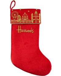 Harrods - Small London Skyline Christmas Stocking - Lyst