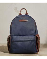 Brunello Cucinelli Leather-trim Backpack - Blue