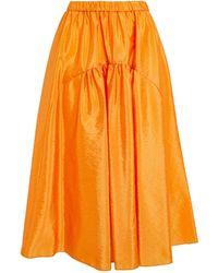 MAX&Co. Taffeta Midi Skirt - Orange