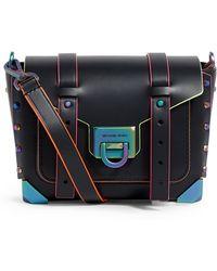 MICHAEL Michael Kors Small Leather Manhattan Cross Body Bag - Black