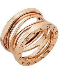 BVLGARI Rose Gold B.zero1 Legend Ring - Metallic