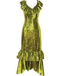 Huishan Zhang - Aerin Sequinned Dress - Lyst