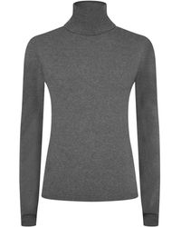 Harrods - Cashmere Roll Neck Jumper - Lyst