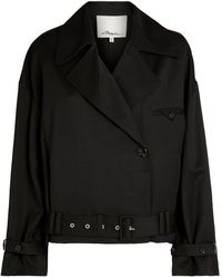 3.1 Phillip Lim - Wool Cropped Trench Coat - Lyst