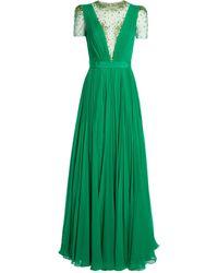 Jenny Packham Silk Prairie Gown - Green