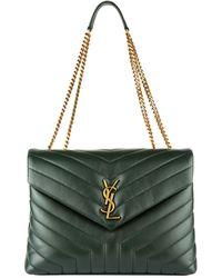 Saint Laurent - Medium Leather Loulou Shoulder Bag - Lyst