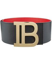 Balmain Large Logo Buckle Belt - Black