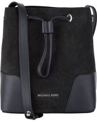 MICHAEL Michael Kors - Small Suede Cary Bucket Bag - Lyst
