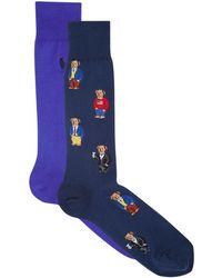 Polo Ralph Lauren - Bear Sock (pack Of 2) - Lyst