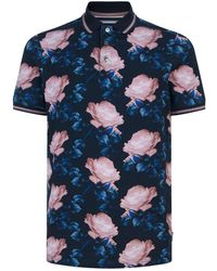 Ted Baker - Lively Floral Polo Shirt - Lyst