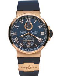 Ulysse Nardin - Rose Gold Marine Chronometer Watch 43mm - Lyst