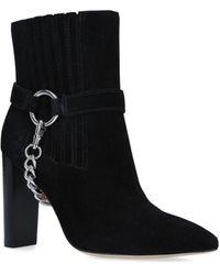 PAIGE Suede London Ankle Boots 100 - Black